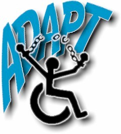 breaking chains logo with ADAPT in background
